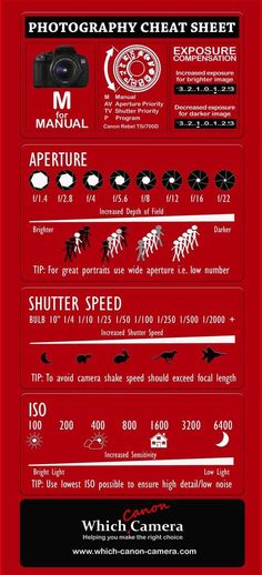 How to use a DSLR camera in Manual Mode - Photography Cheat Sheet Digital Camera Boutique Photography Cheat Sheets, Photography Basics, Photography Lessons, Photography For Beginners, Photography Camera, Photography Business, Photography Tutorials, Digital Photography, Learn Photography