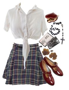 """""""[Nancy pushes Chris out a window and kills him]"""" by teenscream ❤ liked on Polyvore featuring Aspinal of London, vintage and schoolgirl"""