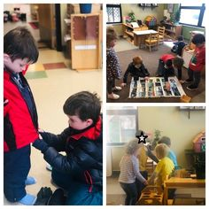 A hallmark of Montessori is the multi-age classroom, mirroring family structure and society where we interact with people of different ages. Kindergarten Learning, Learning Centers, Fun Learning, Preschool, What Is Montessori, Montessori Classroom, Family Structure, Reading Words, Kindergarten