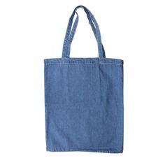 Blue Denim, Reusable Tote Bags
