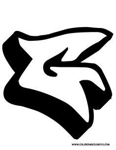 Graffiti alphabet font letter G