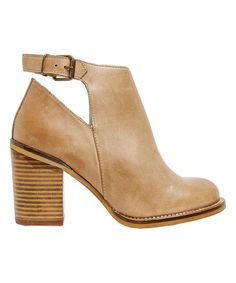 Another great find on #zulily! Cue Denna Leather Ankle-Strap Boot #zulilyfinds