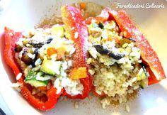 Farneticazioni Culinarie: Peperoni ripieni di riso e ortaggi