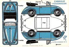 Volkswagen Beetle Paper Car