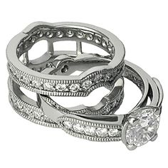 Brilliant Bow Engagement Ring with Enhancer