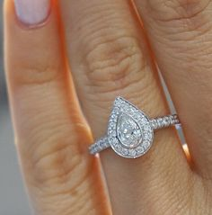 Stunning pear shape engagement ring from York Jewellers.