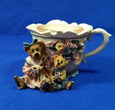 Your place to buy and sell all things handmade Vintage Candle Holders, Boyds Bears, Vintage Home Decor, Teacup, Tea Time, Ms, Teddy Bear, Candles, Unique Jewelry