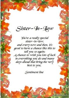 sister in law quotes and sayings | Sister in Law Quotes http://kootation.com/birthday-quotes-for-sister ...