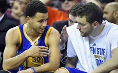 Steph Curry gives David Lee a memorable and heartfelt goodbye
