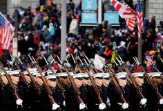Marines march in the 57th Presidential Inauguration (Department of Defense photo by EJ Hersom)
