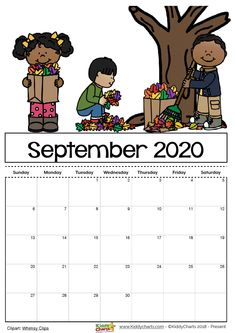 Free Printable 2020 calendar for kids, including an editable version