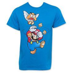 Nintendo Blue Mario Get Offa Me Goomba T-Shirt