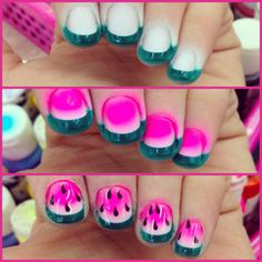 P.S.- I made this...Watermelon Nail Art