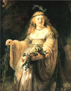 Flora - by artist Rembrandt van Rijn. hand-painted museum quality oil painting reproduction on canvas. Rembrandt Paintings, Oil On Canvas, Canvas Art, National Gallery, Baroque Art, Dutch Painters, Dutch Artists, Oil Painting Reproductions, Flora