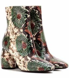 Printed leather ankle boots | Dries Van Noten