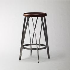 """$80 Ribbon Counter Stool from West Elm (17.25""""diam. x H25.5"""") We'd need to buy these very soon if they want them, since they are on clearance."""