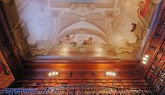 Perhaps the most beautiful ceiling in the world? Biltmore House's Pellegrini ceiling painting in the Library.