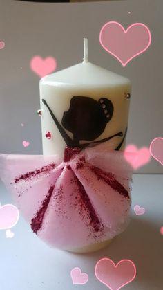 Candela personalizzata ballerina rosa!💟