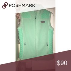 Sea Foam Green Vineyard Vines Vest! Size S Super comfy and cozy vineyard vines fleece vest. Perfect for a chilly fall day. Worn only 3 times. Vineyard Vines Jackets & Coats Vests
