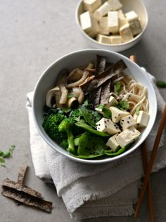Miso soup with toasted nori