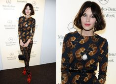 Foxy! Alexa Chung in Deyrolle for Opening Ceremony At Christian Siriano 2011 Fall New York Fashion Week