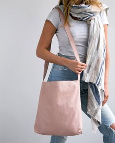Bolso de cuero bandolera, Blush rosa bolso, bolsa de cuero suave, imán cerca, ligero cuero, bolsa, bolsa, regalos de Navidad