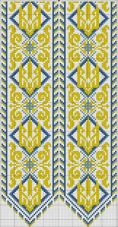 Beading _ Pattern - Motif / Earrings / Band ___ Square Sttich or Bead Loomwork ___ Odnoklassniki Mini Cross Stitch, Cross Stitch Borders, Cross Stitch Designs, Cross Stitching, Cross Stitch Embroidery, Cross Stitch Patterns, Bead Loom Patterns, Beading Patterns, Embroidery Patterns