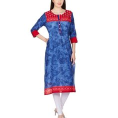 Buy Shree Red Cotton Solid Party Wear Kurti by undefined, on Paytm, Price: Rs.499
