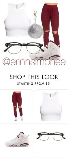"""Casual outfit ❣"" by erinnsimonee ❤ liked on Polyvore featuring H&M, NIKE and ZeroUV"
