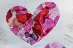 The Imagination Tree: Tissue Paper Stained Glass Hearts
