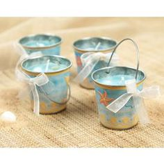 Beach Pail Candle Wedding Favor