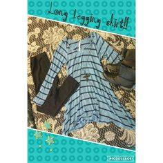 Beautiful Long legging shirt!! Legging shirt, long length with even longer sides, covers everything needed to wear it with your favorite leggings. Tops Tunics