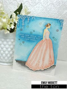 We designed a haute couture wedding dress complete with separate layered floral details that you can stamp in ink or heat emboss in metallic embossing powders. - 4x6 inches - 8 stamps - Made of photop