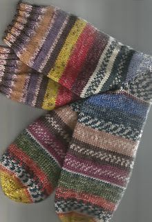 Leftover sock yarn socks. and perfectly matched