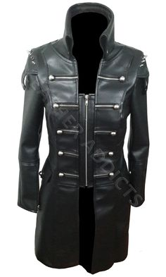 WOMEN BLACK SHEEP LEATHER STEAMPUNK COAT   Price:$172–$199   Made from the finest Real Soft SHEEP / LAMB Leather. Soft, Supple & light weight. If looked after correctly, this coat will last you a lifetime!   #leather #jeans #pure #people #uk #usa #canada  #gay #fashion #marketing #clothing #handmade #womensfashion #trend #leatheraddicts #outfit #winter #winterfashion #trumps #ladiescoat