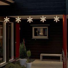 Schneeflocken Lichterkette 5fl. LED warmweiß 4m sicher & bequem online bestellen bei Lampenwelt.de.