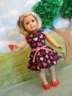 American Girl Valentine's Day clothes American girl by SewCuteJune