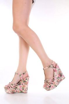 Blush Floral Print Fabric T Strap Open Toe Platform Wedges @ Amiclubwear Wedges Shoes Store:Wedge Shoes,Wedge Boots,Wedge Heels,Wedge Sandals,Dress Shoes,Summer Shoes,Spring Shoes,Prom Shoes,Women's Wedge Shoes,Wedge Platforms Shoes,floral wedges,Fashion #promshoeswedges #promheelswedges