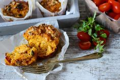 The Spoon and Whisk: Sweet Potato, Cheese and Chorizo Muffins
