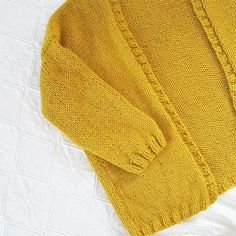 Gilet doudou jaune moutarde - Kesi'Art - le Blog