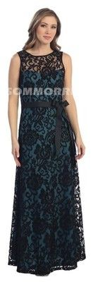 New Long Black Teal Lace Formal Dress Medium Wedding Dresses Special Gown Round | eBay. $99.99