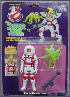 Kenner The Real Ghostbusters Super Fright Features: Egon Spengler 1986 1980s Toys, Retro Toys, Vintage Toys, Ghostbusters Toys, The Real Ghostbusters, 1980s Childhood, Childhood Memories, Die Geisterjäger, Hollywood Monsters