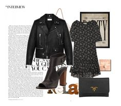 """""""Sem título #394"""" by bear-pretty ❤ liked on Polyvore featuring Yves Saint Laurent, Vince, Prada and Hatcher & Ethan"""