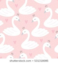 Find Seamless Swan Princess Pattern Vector Illustration stock images in HD and millions of other royalty-free stock photos, illustrations and vectors in the Shutterstock collection. Swan Wallpaper, Nursery Wallpaper, Pattern Wallpaper, Iphone Wallpaper, The Swan Princess, Princess Theme, Vector Pattern, Pattern Design, Pattern Ideas