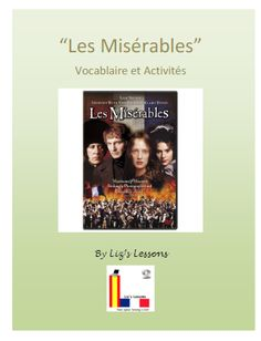 "Liz's Lessons: ""Les Miserables"" French Movie Vocabulary and Activities!"