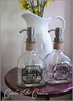 Tequila bottle to soap dispenser - I like this one because it tells you what to do with the cork