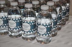 PRINTABLE WATER BOTTLE labels Wedding or by MemorableMomentsSt, $7.00 gets you PDF file to print off 4 at a time in your choice of color.