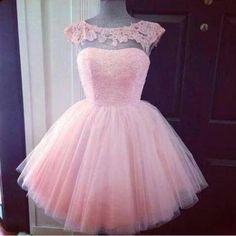 Vestido para debutante 15 anos rosa claro                                                                                                                                                      Más