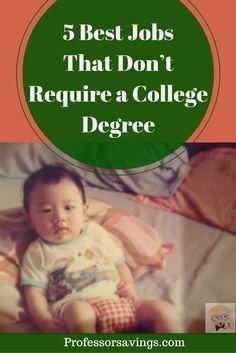 The Best Jobs That Don't Require a College Degree #job #career #money CLICK HERE>> http://professorsavings.com/the-best-jobs-that-dont-require-a-college-degree/?utm_content=buffer71466&utm_medium=social&utm_source=pinterest.com&utm_campaign=buffer