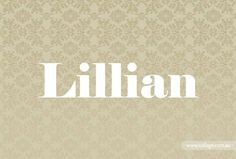 Grandparent-inspired baby names.my departed great grandparents Lillian Ann Barber